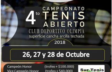 4 to campeonato Abierto de Tenis