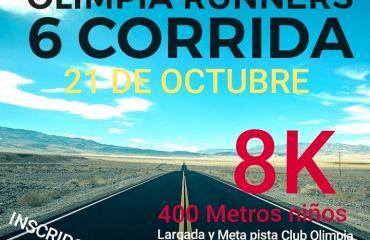 Corrida Olimpia Runners  octubre 2018
